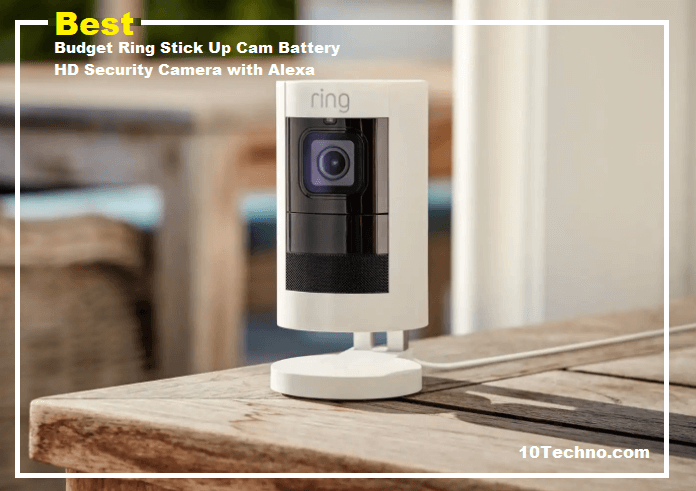 Best Budget Ring Stick Up Cam Battery HD Security Camera with Alexa
