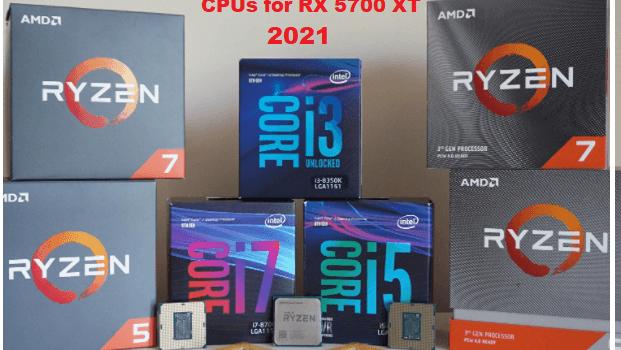 Best CPU for RX 5700 XT